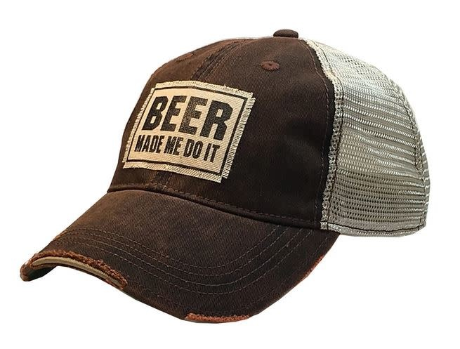 BEER MADE ME DO IT- BLK DISTRESSED