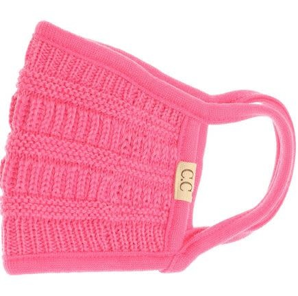C.C BEANIES KIDS KNIT FACE MASK CANDY PINK