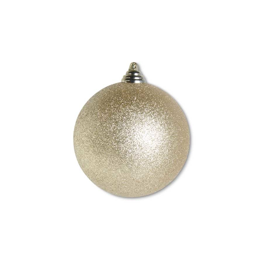 4.5 INCH GOLD GLITTERED SHATTERPROOF ROUND ORNAMENT