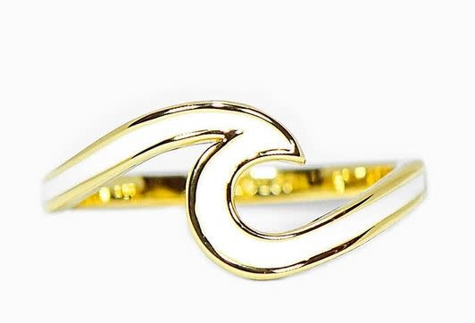 PURAVIDA ENAMELED WAVE RING-GOLD