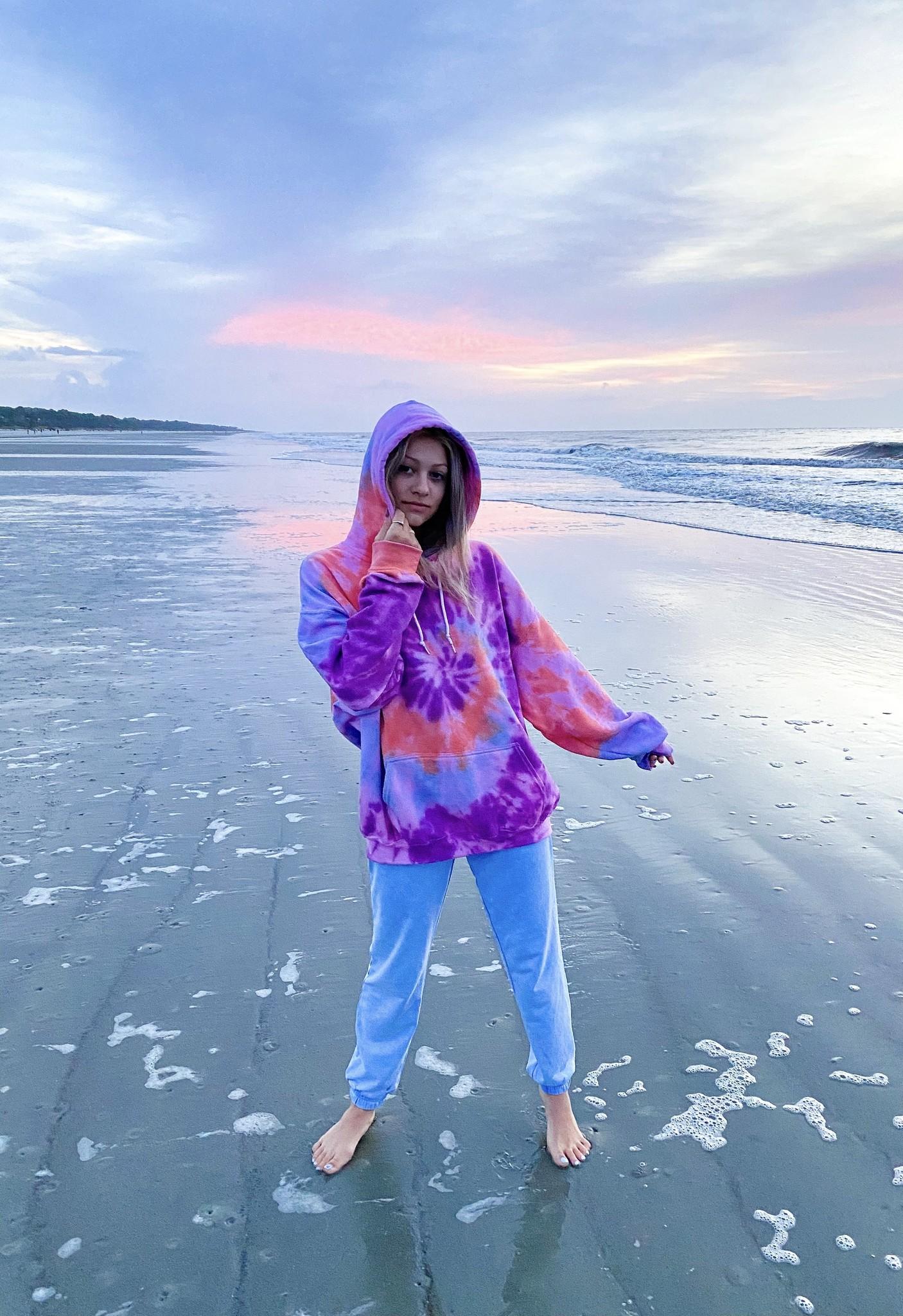 HALEY ROSE Ocean Sunrise Tie-Dye Hoodie