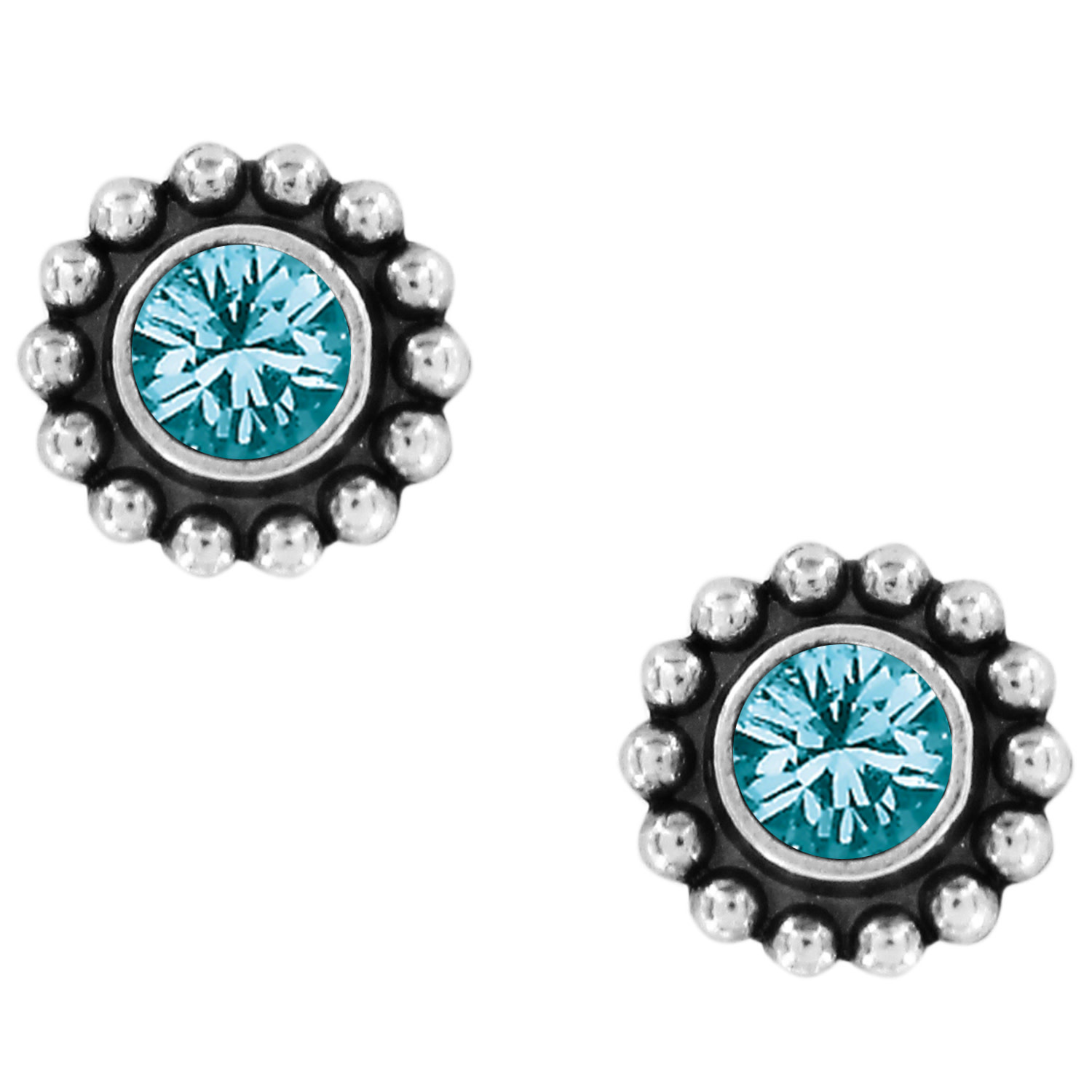BRIGHTON TWINKLE BLUE ZIRCON MINI POST EARRINGS