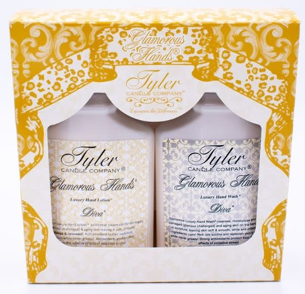 TYLER CANDLES GLAMOUROUS HANDS GIFT SET- DIVA