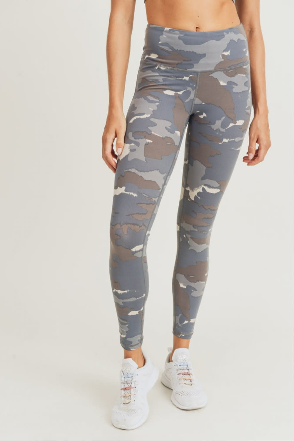 MONO B BLUE TUNDRA HIGH-WAIST LEGGINGS
