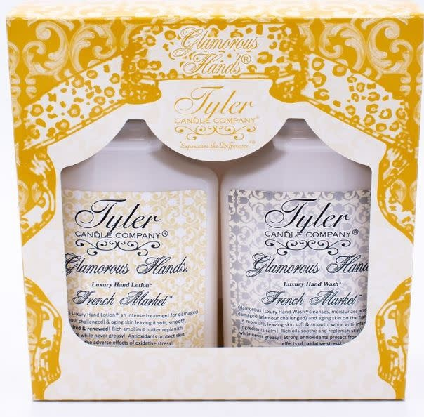 TYLER CANDLES GLAMOUROUS HANDS GIFT SET- FRENCH MARKET