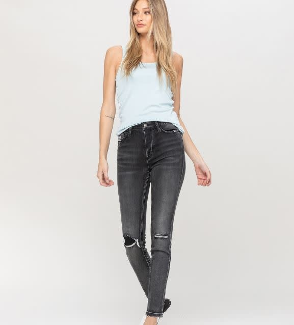 FLYING MONKEY MIDNIGHT DISTRESSED SKINNY JEANS