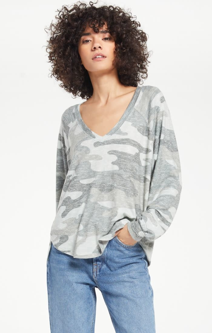 Z SUPPLY PLIRA CAMO SLUB SWEATER