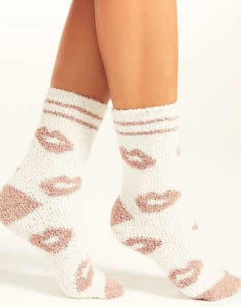 Z SUPPLY LIP  PLUSH SOCKS
