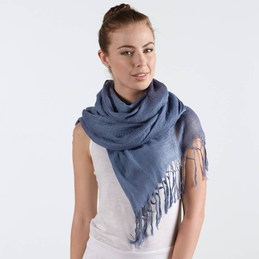 MUD PIE ADRIANA SCARF SARONG BLUE