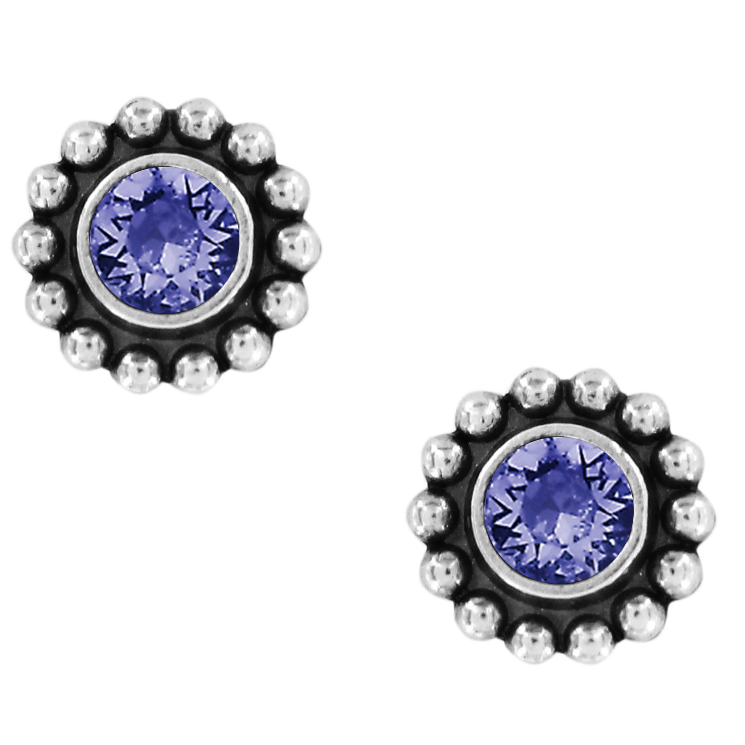 BRIGHTON TWINKLE MINI POST EARRINGS- TANZANITE