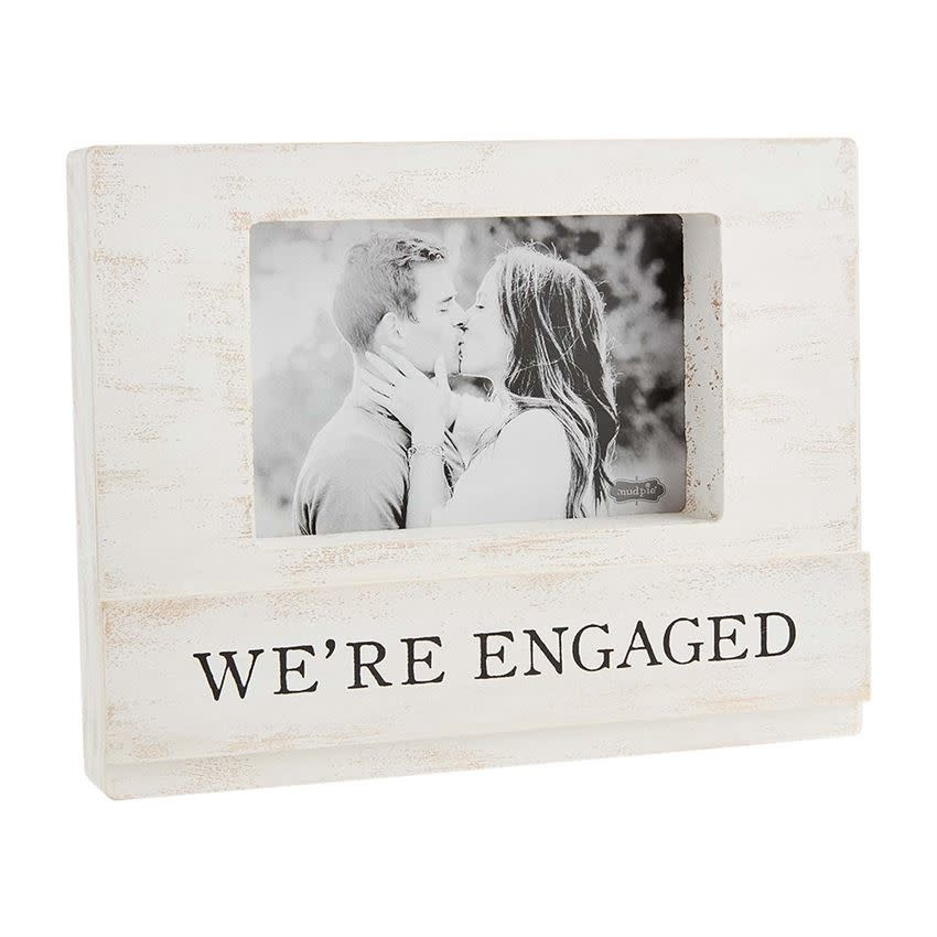 MUD PIE WE'RE ENGAGED BLOCK FRAME