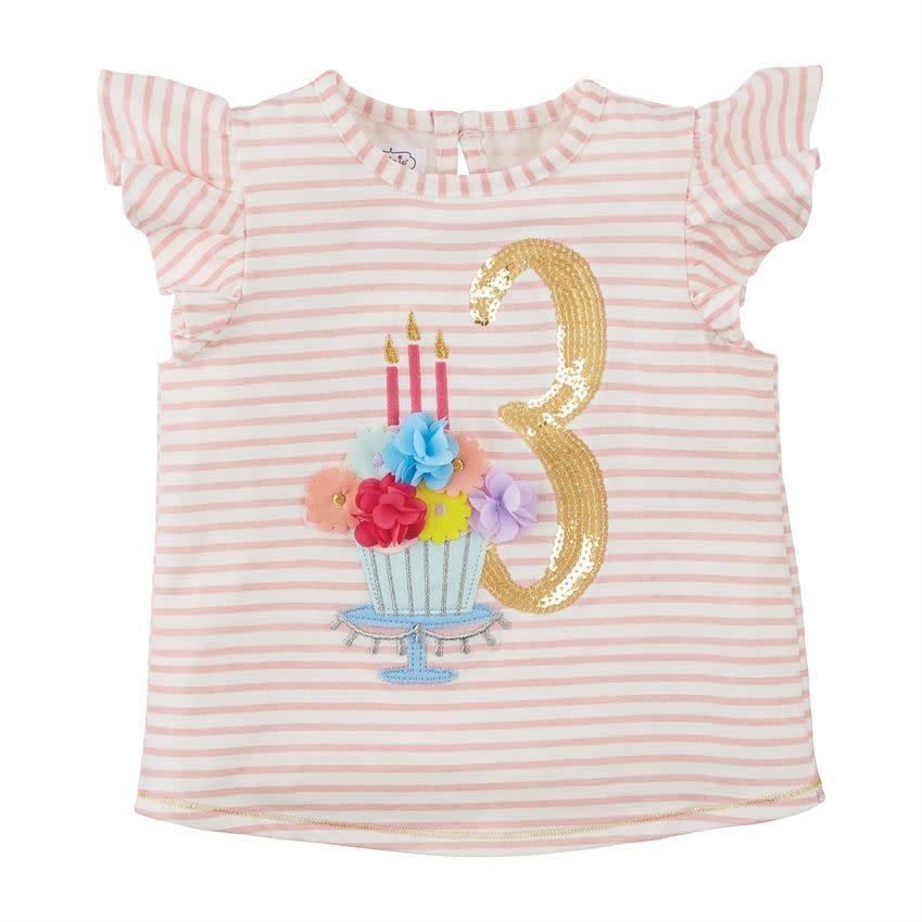 MUD PIE THREE BIRTHDAY SHIRT