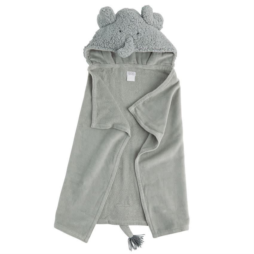 MUD PIE ELEPHANT BABY HOODED TOWEL