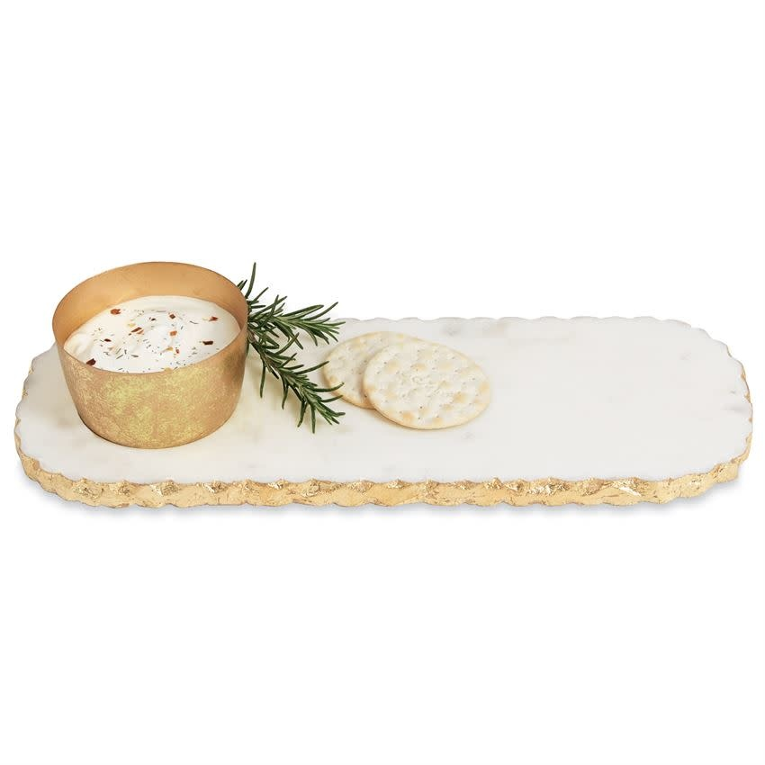 MUD PIE CHIPPED MARBLE DIP & TRAY SET