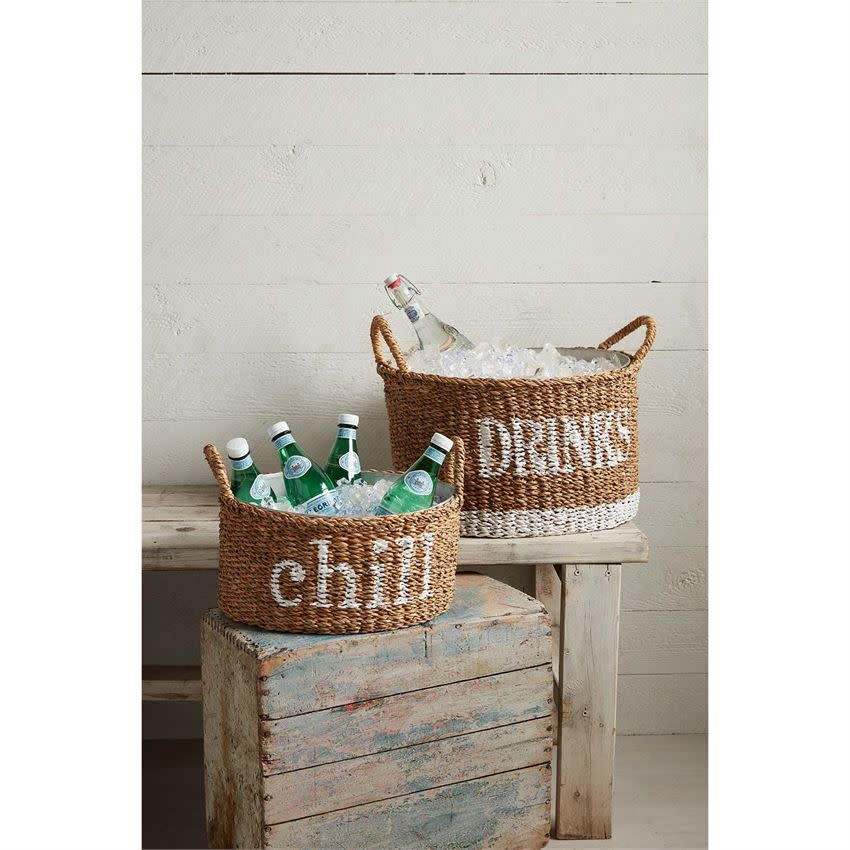 MUD PIE WOVEN PARTY TUB SET