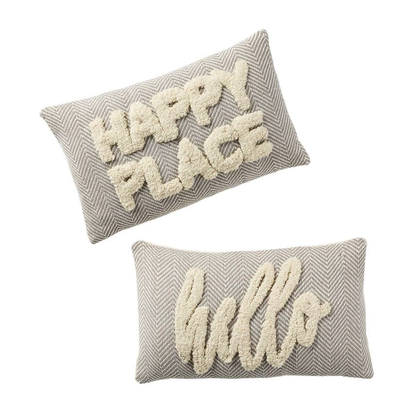 MUD PIE HAPPY TUFTED PILLOWS