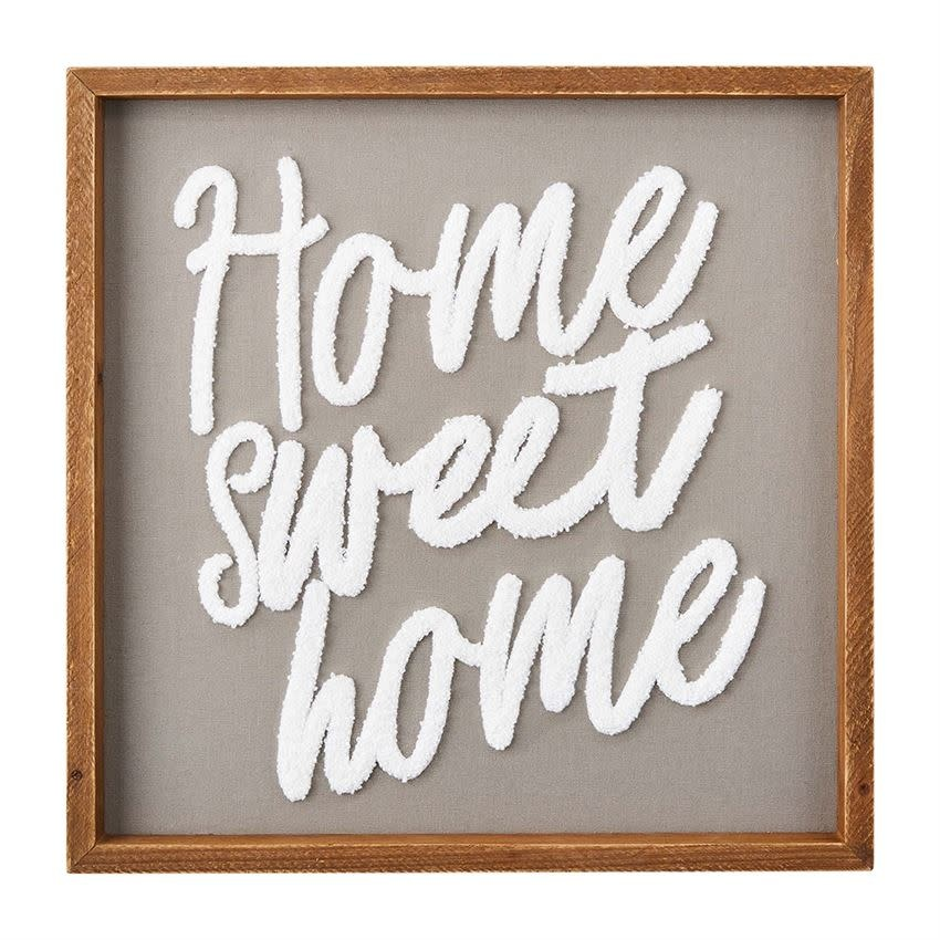 MUD PIE HOME SWEET BOUCLE PLAQUE
