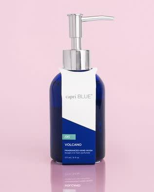 CAPRI BLUE 6 OZ GLASS HAND SOAP