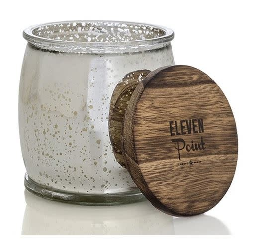 ELEVEN POINT CANDLES MERCURY BARREL CANDLE-SILVER