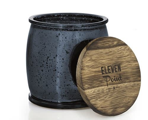 ELEVEN POINT CANDLES MERCURY BARREL CANDLE-NAVY