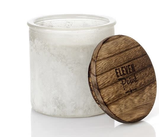 ELEVEN POINT CANDLES RIVER ROCK CANDLE-WHITE
