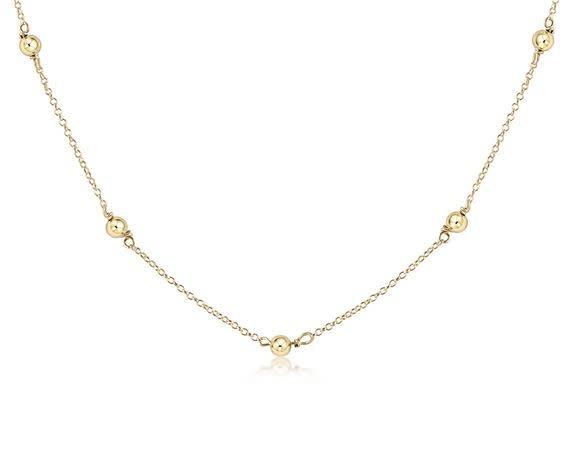 "ENEWTON 15"" CHOKER SIMPLICITY CHAIN GOLD-4MM BEAD GOLD"