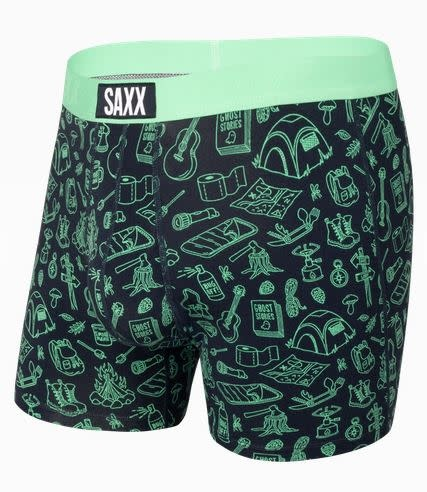 SAXX ULTRA BOXER BRIEF - GREEN ROUGHING IT