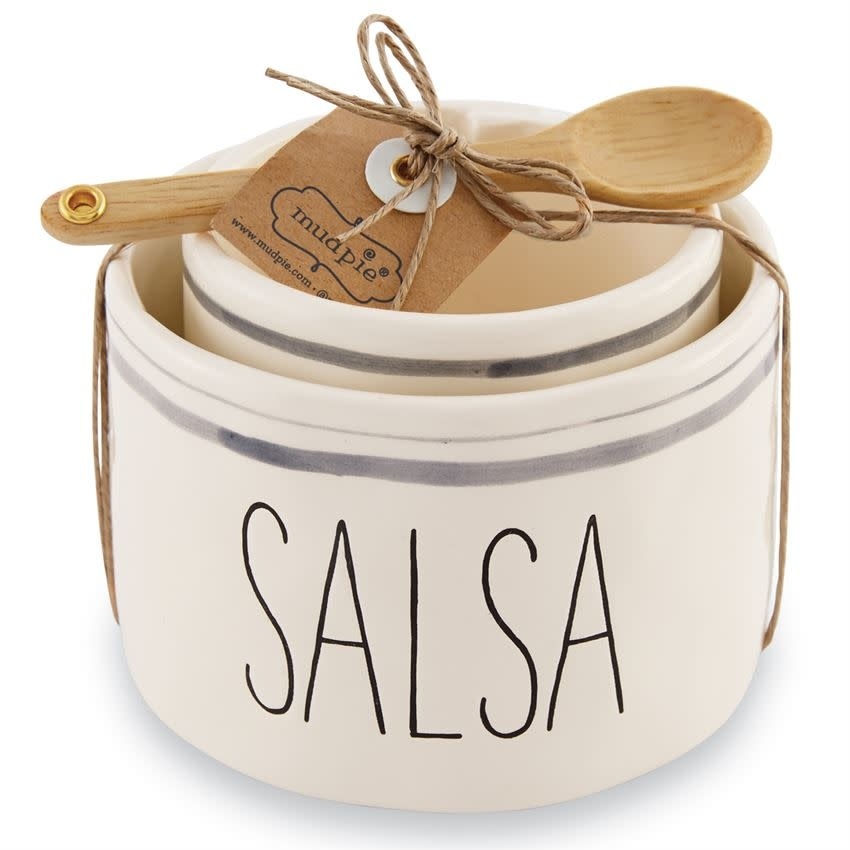 MUD PIE SALSA AND GUAC NESTED BOWL SET