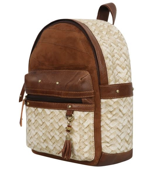 VAAN AND CO LACY BACKPACK-HERRINGBONE