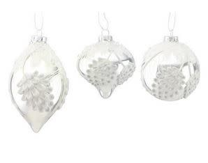 ICY PINECONE ORNAMENTS