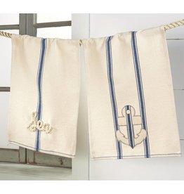 MUD PIE GRAINSACK NAUTICAL TOWEL