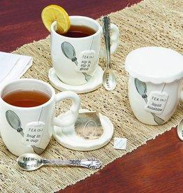 MUD PIE COVERED TEA MUG SET