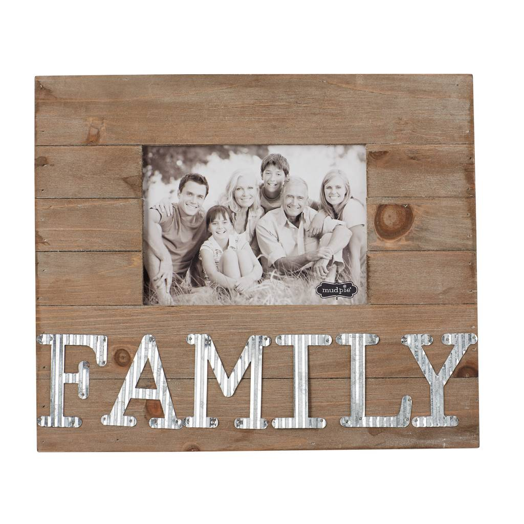 MUD PIE FAMILY TIN FRAME