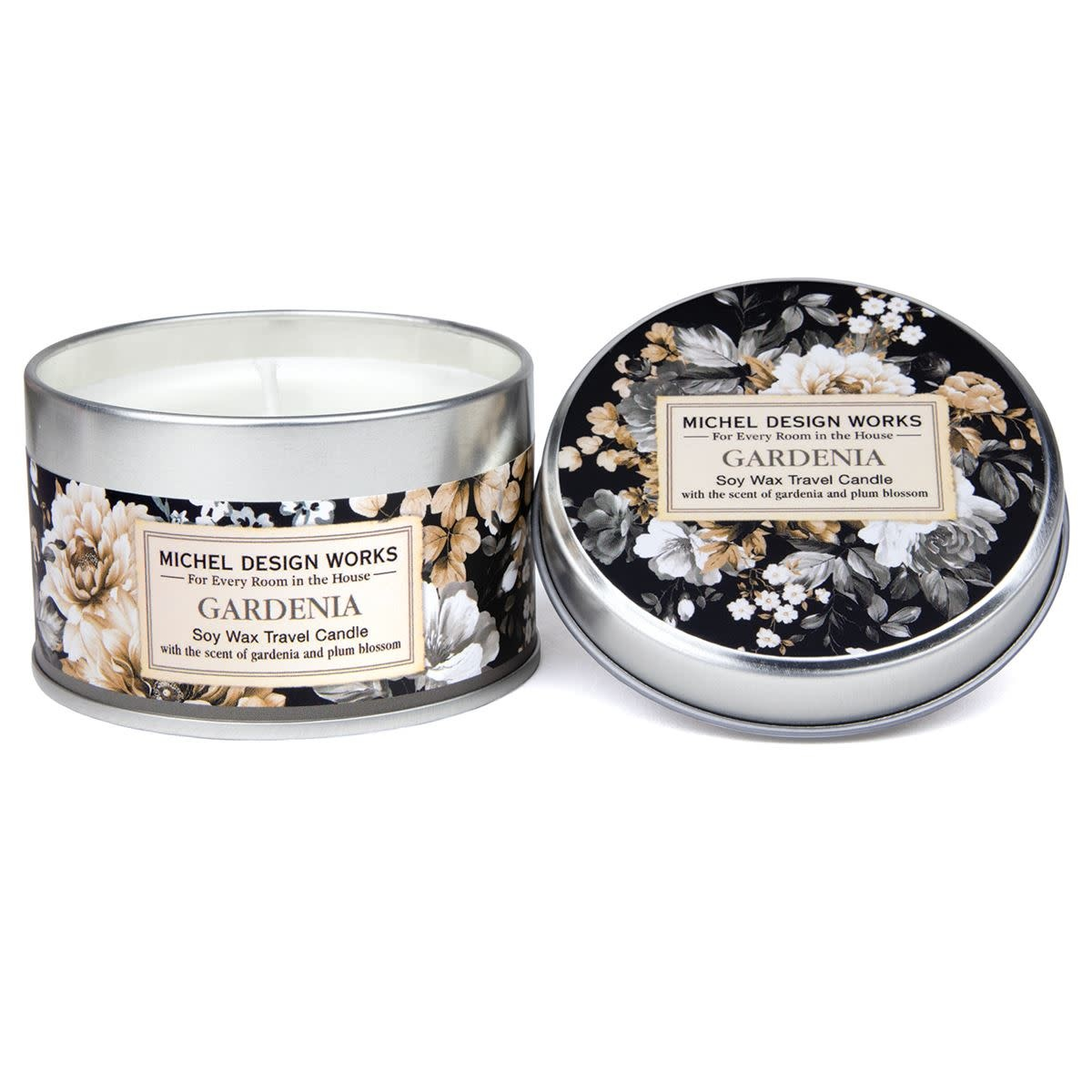 MICHEL DESIGN WORKS GARDENIA TRAVEL CANDLE