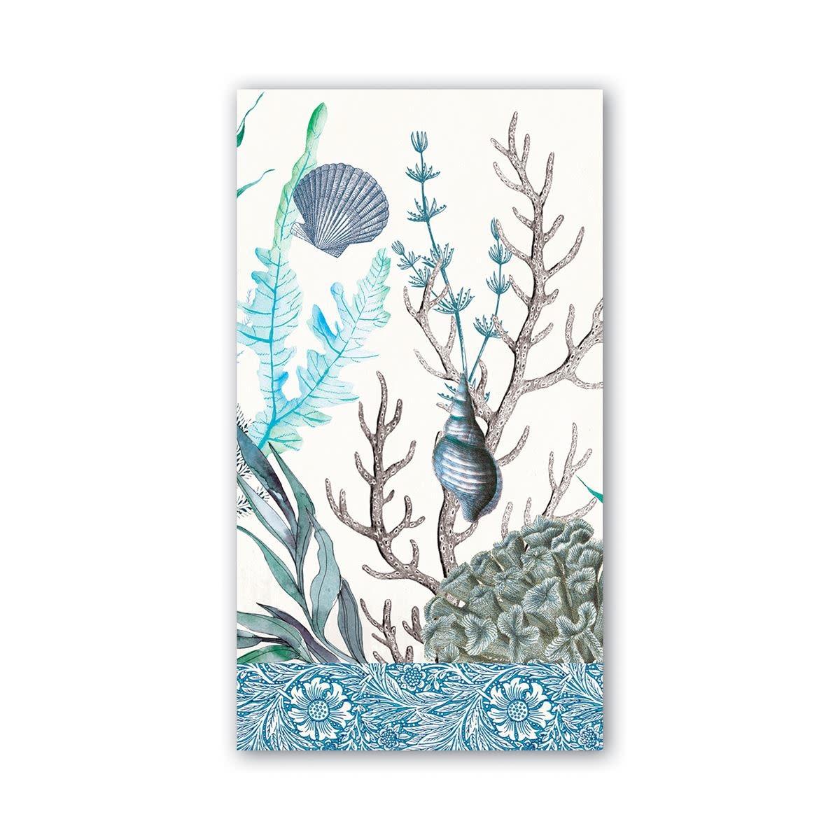 MICHEL DESIGN WORKS OCEAN TIDE HOSTESS NAPKIN
