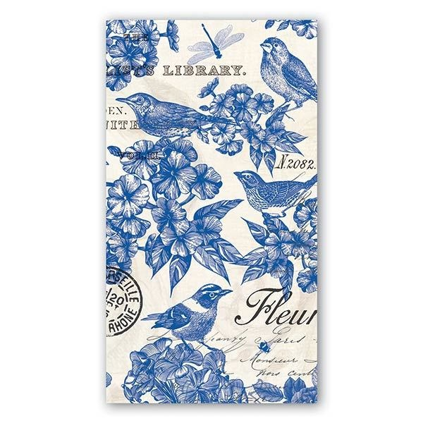 MICHEL DESIGN WORKS INDIGO COTTON HOSTESS NAPKIN