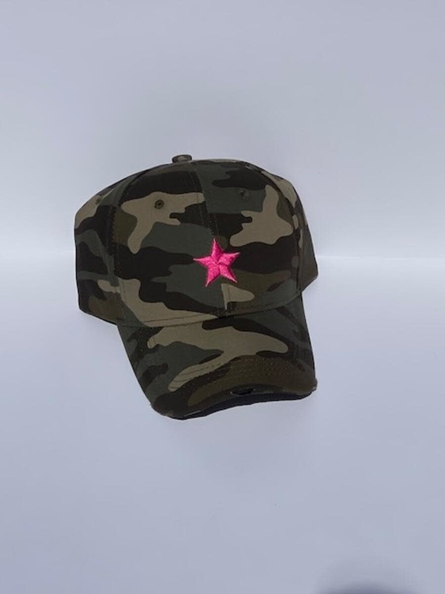 HAUTE SHORE HAUTE HAT-GREEN CAMO/PNK STAR