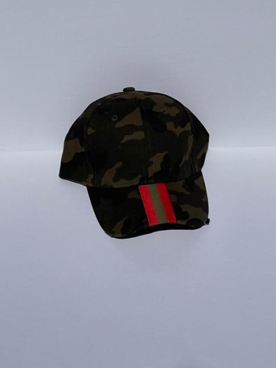 HAUTE SHORE HAUTE HAT-GREEN CAMO/OLIVE RED STRIPE