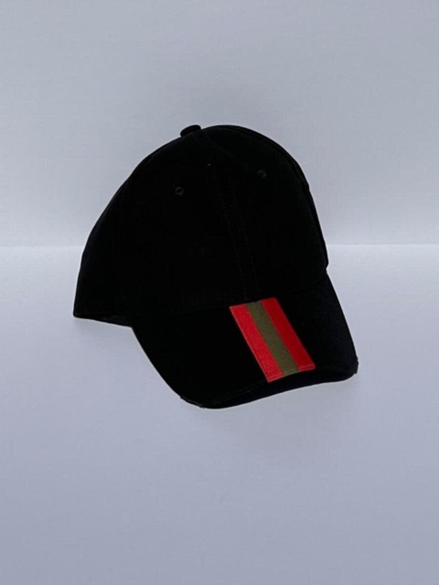 HAUTE SHORE HAUTE HAT-BLACK/OLIVE RED STRIPE