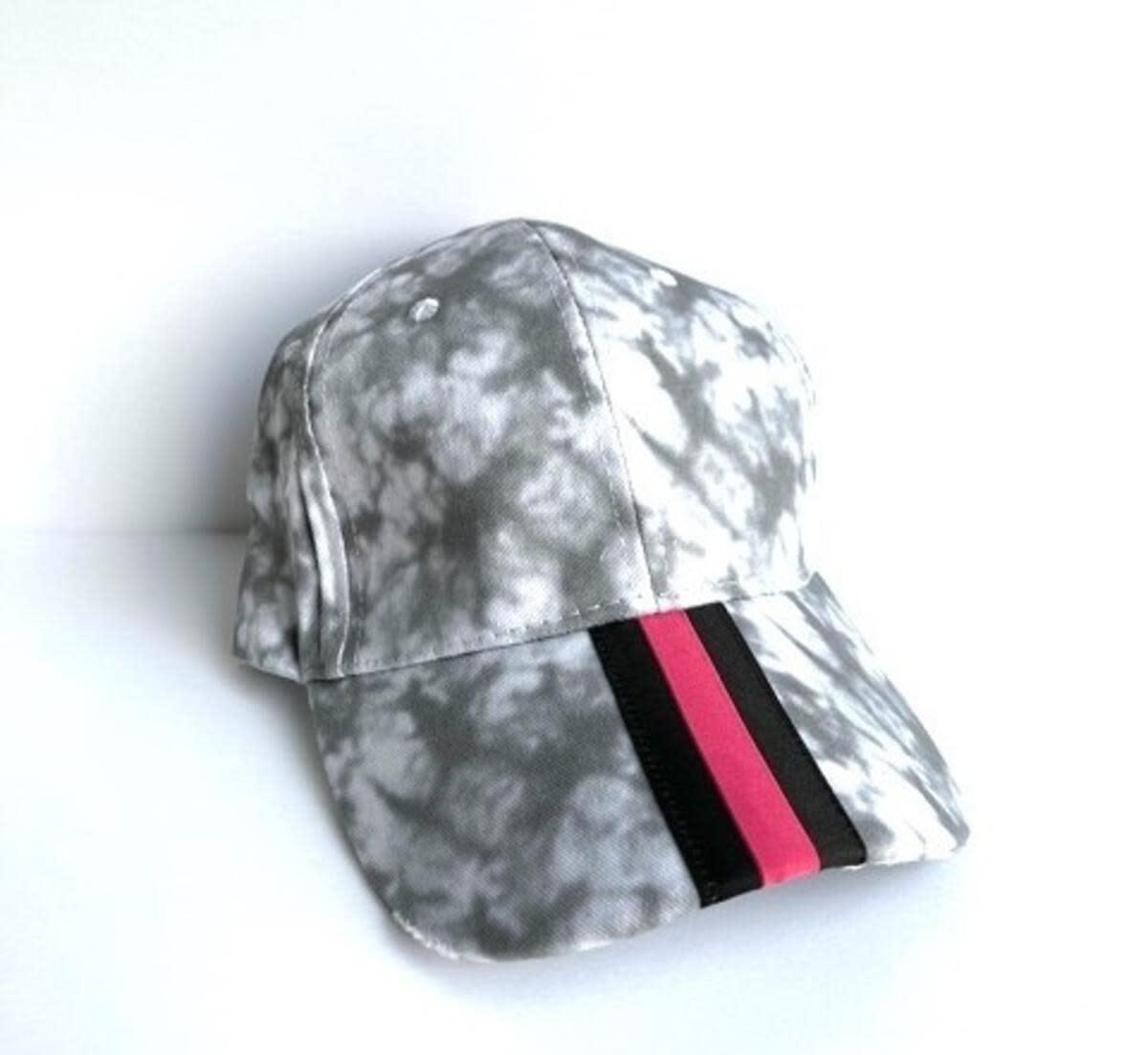 HAUTE SHORE HAUTE HAT-WHITE/GRAY TIE DYE