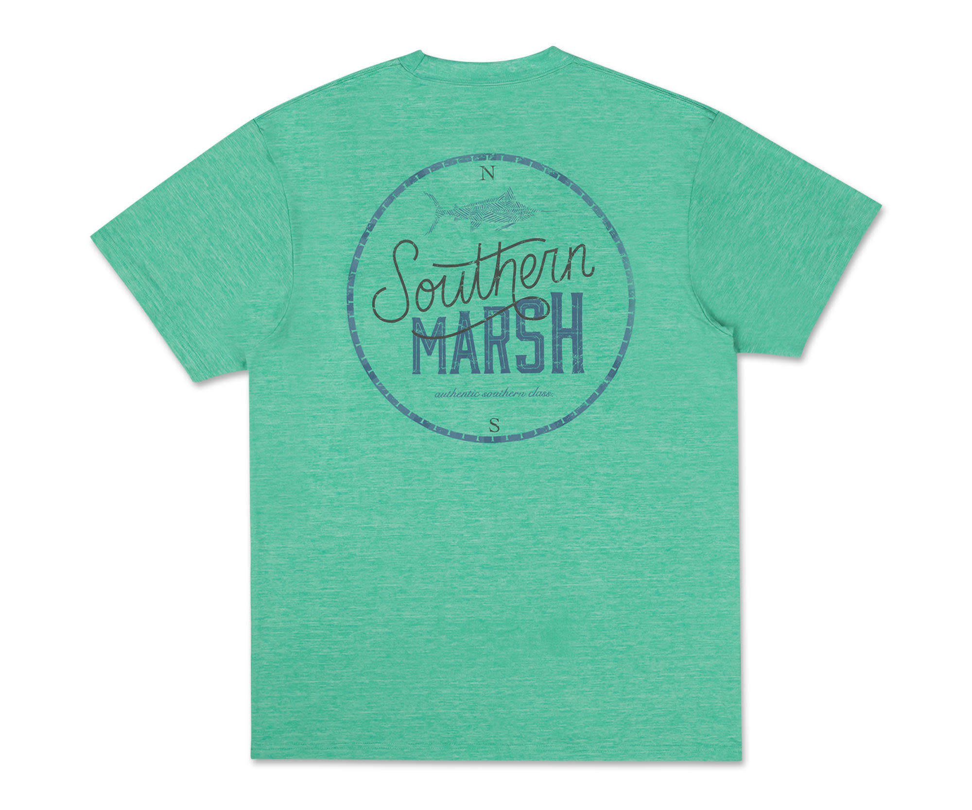SOUTHERN MARSH FIELDTEC HEATHERED TEE-MARLIN TIME