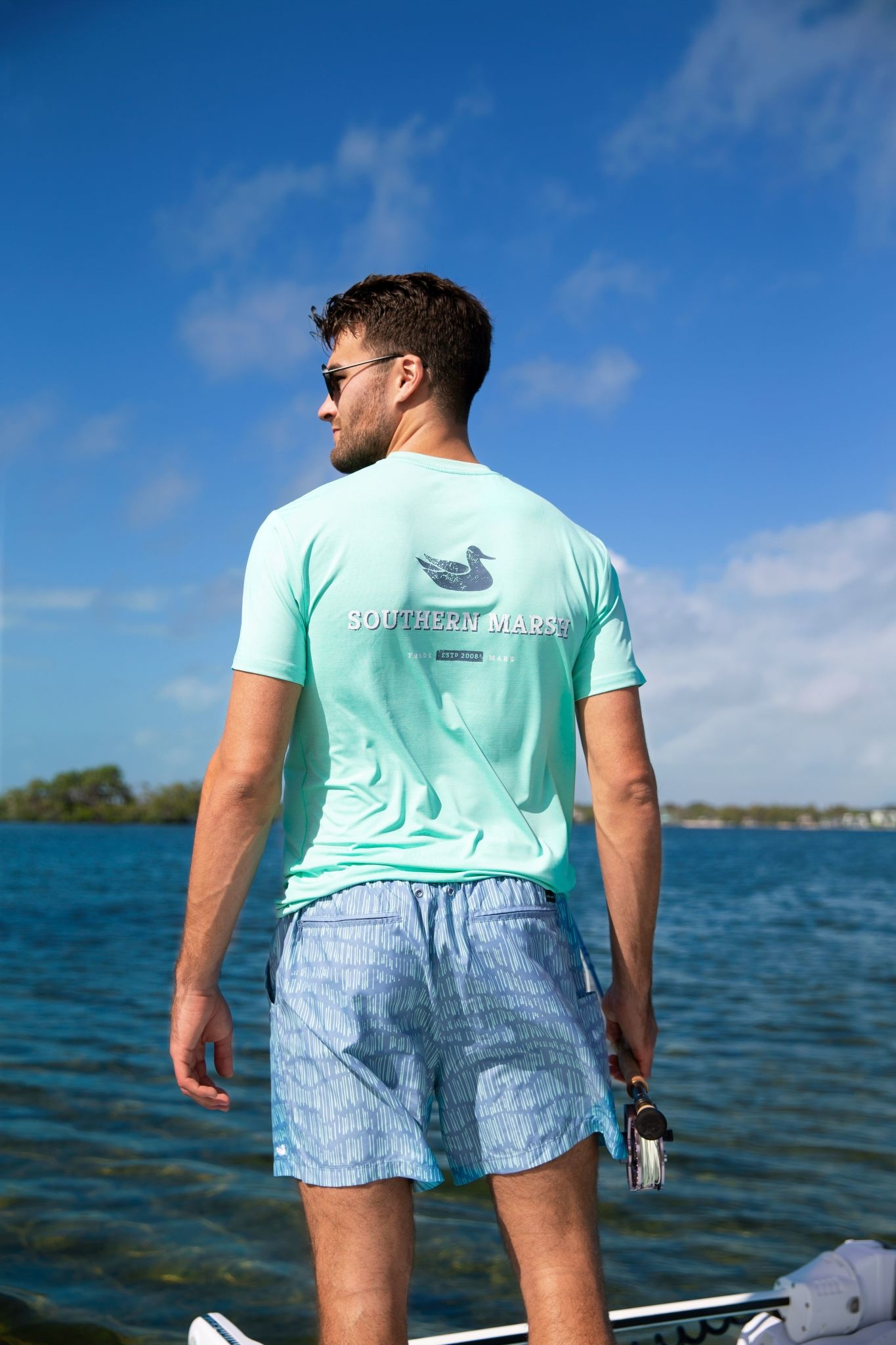 SOUTHERN MARSH FIELDTEC HEATHERED TEE-TRADEMARK