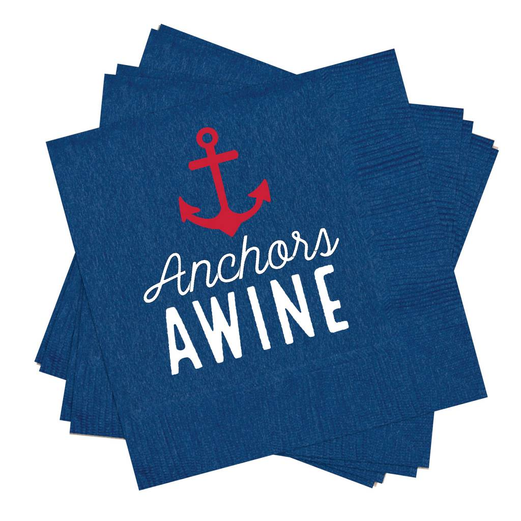 MUD PIE ANCHOR COCKTAIL NAPKINS