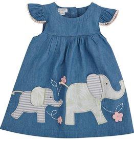 MUD PIE ELEPHANT CHAMBRAY DRESS