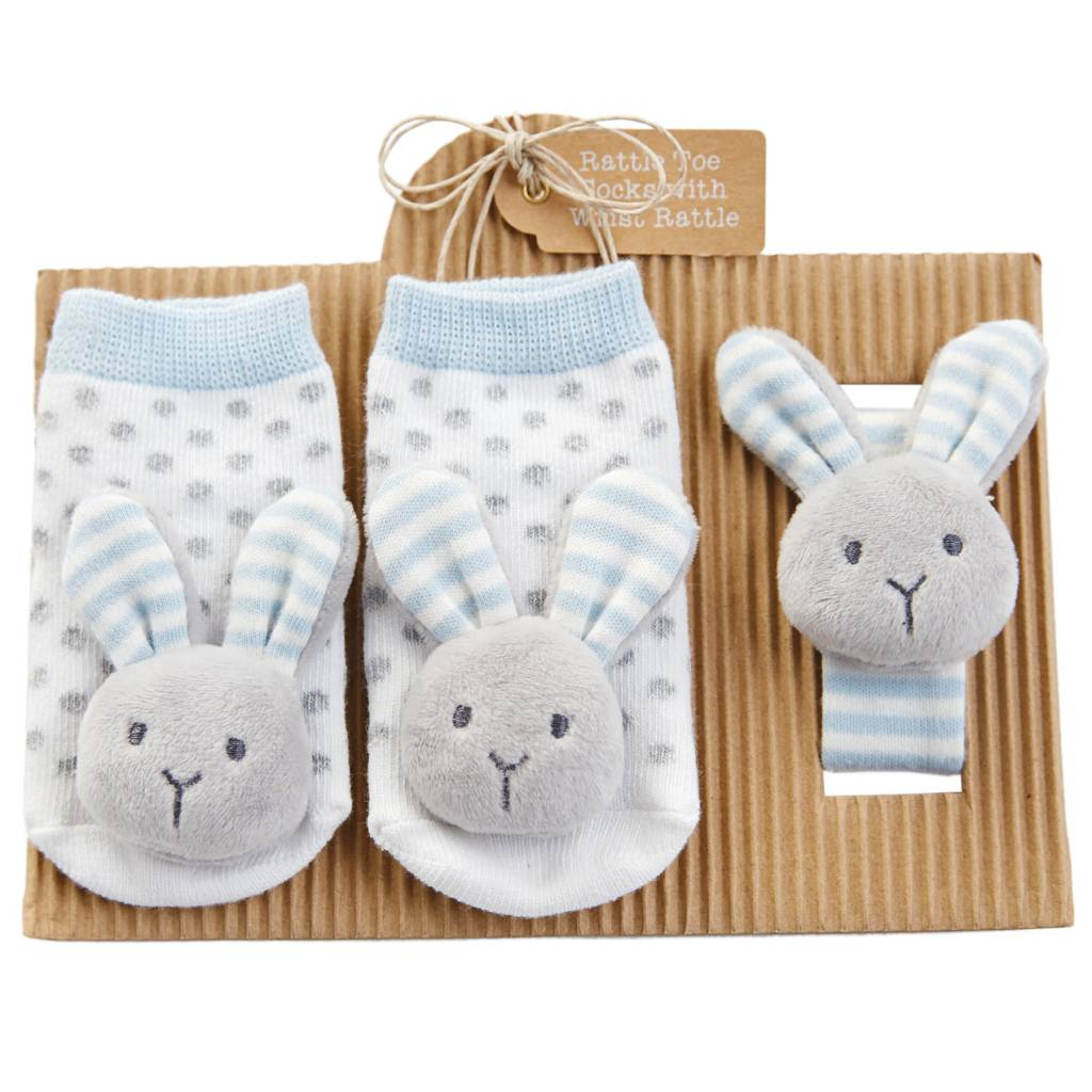 MUD PIE BUNNY WRIST RATTLE SOCKS