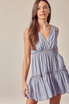 Hollie Tiered V-Neck Dress