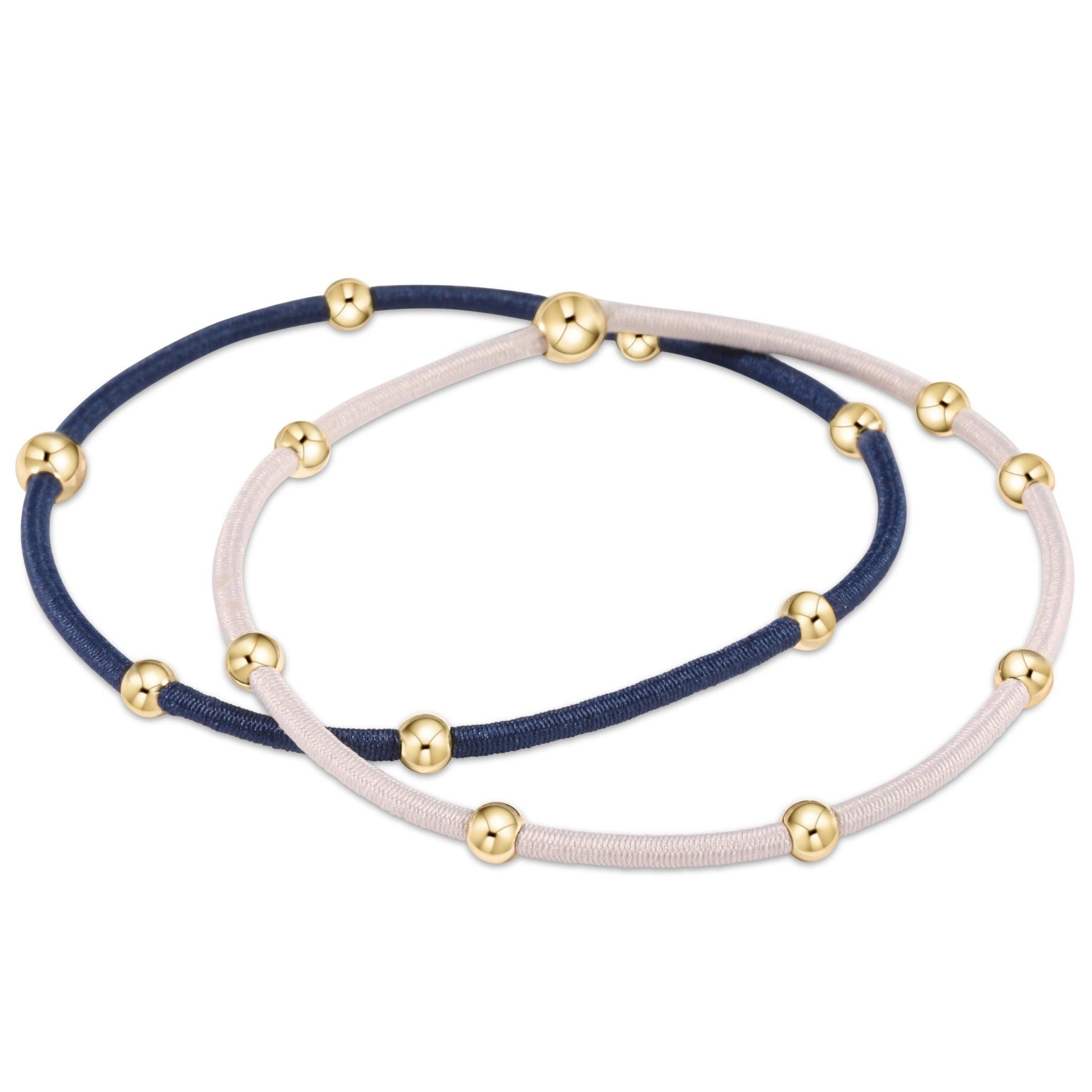 ENEWTON e ssentials bracelet stack of 2-Midnight