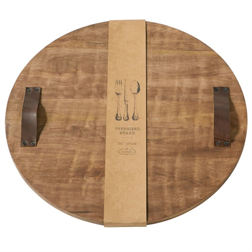 MUD PIE ROUND OVER SIZED WOOD CHARCUTERIE BOARD