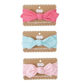 MUD PIE JERSEY KNOTTED BOW HEADBANDS