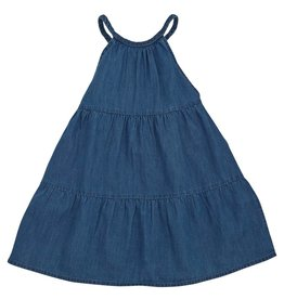 MUD PIE BRAIDED DENIM DRESS